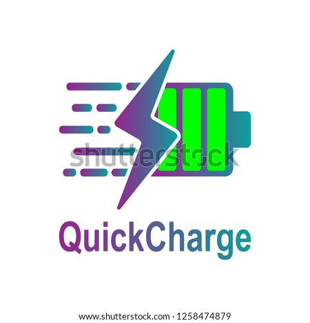 Battery Charging vector icon. Quick and fast charge icon. Vector. EPS 10