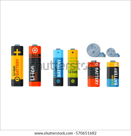 Battery electricity charge technology and accumulator alkaline battery-powered energy elements. Different toy and human tools power supply elements
