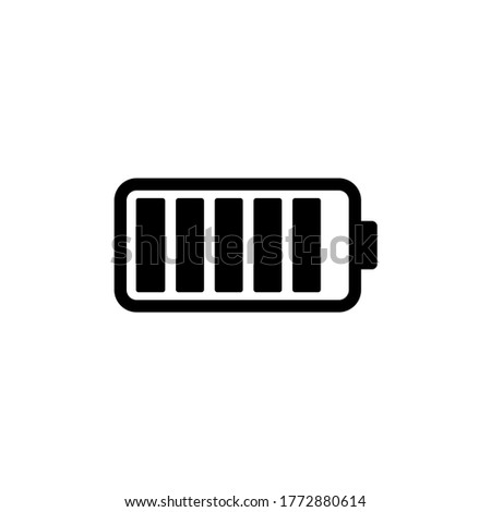 Battery flat icon symbol vector illustration