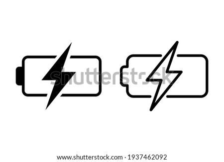 Battery icon set. battery charge level. battery Charging icon Stockfoto ©