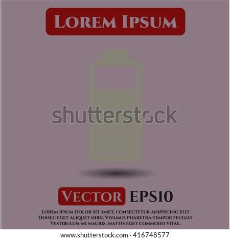 battery icon vector symbol flat eps jpg app web concept website