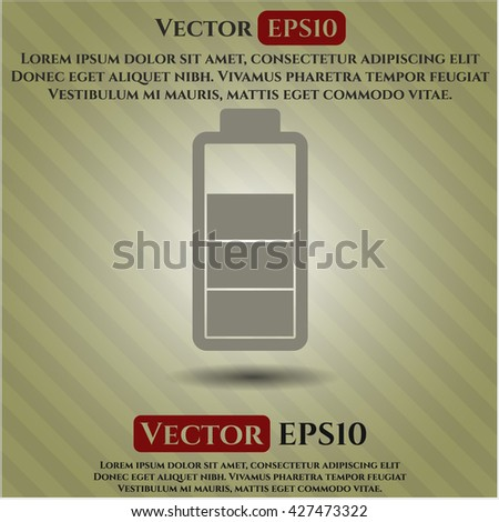 battery icon vector symbol flat eps jpg app web concept website