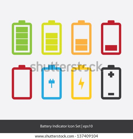Индикатор батареи в картинках