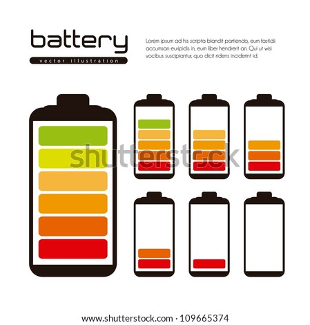 Battery load illustration isolated on white background, vector illustration