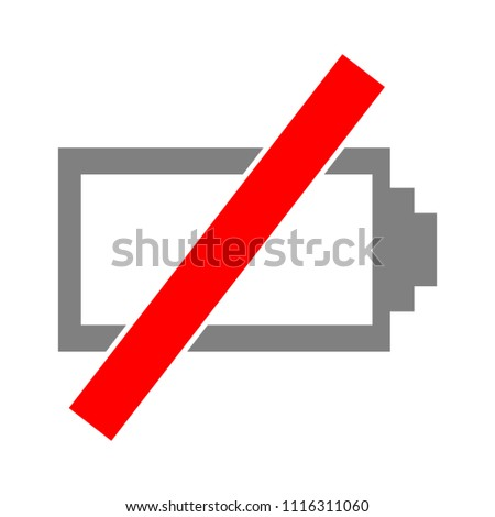Battery low icon, battery charge illustration- battery symbol
