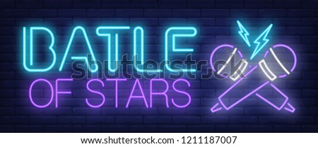 battle of stars neon sign
