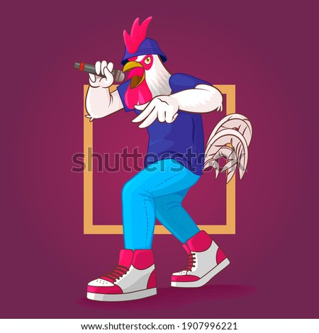 battle of the roosters freestyle Stock photo ©