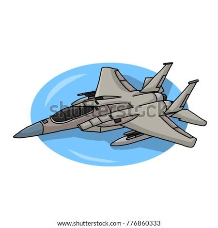 battle plane mig 29 vector