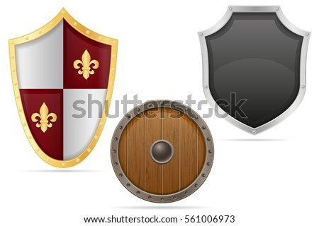 battle shield medieval stock