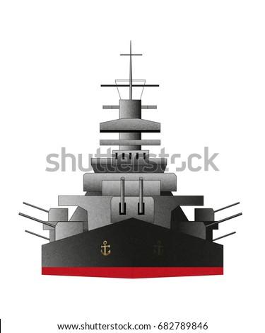 battleship icon vector color