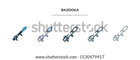 bazooka icon in different style