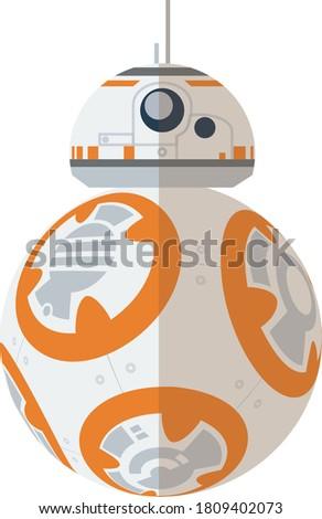 BB-8 Star Wars droid flat icon