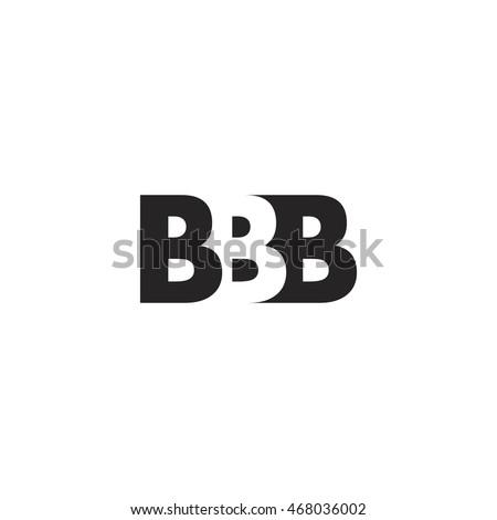 bbb logo. vector graphic branding letter element. white background