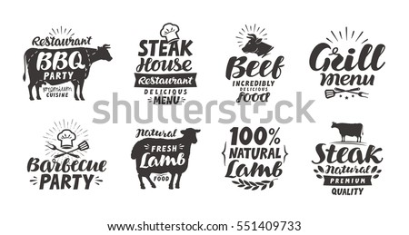 bbq  barbecue  meat labels