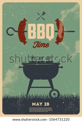BBQ time. Vintage poster