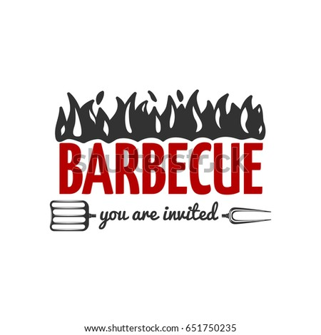 bbq vector label isolated on