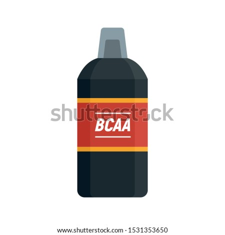BCCA sport nutrition icon. Flat illustration of BCCA sport nutrition vector icon for web design