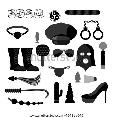 bdsm set icons accessories