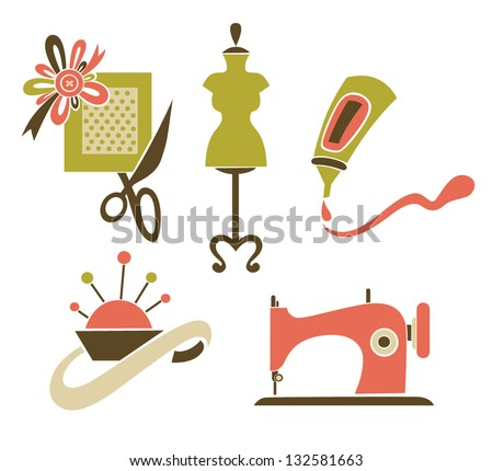 be a designer, hand made and craft, vector collection of symbols and icons