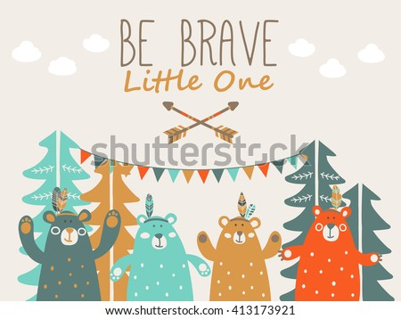 be brave little one   cute