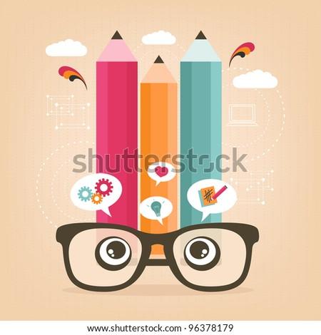 be creative - stock vector