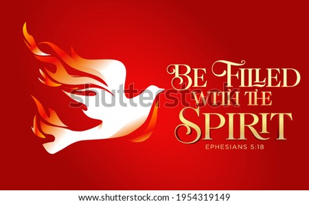 Be filled with the holy Spirit Pentecost Sunday vector illustration Imagine de stoc ©