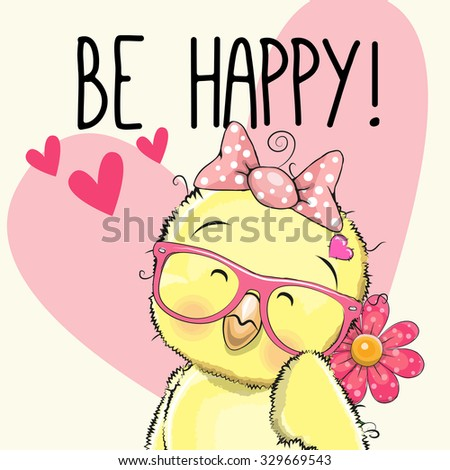 be happy greeting card chicken