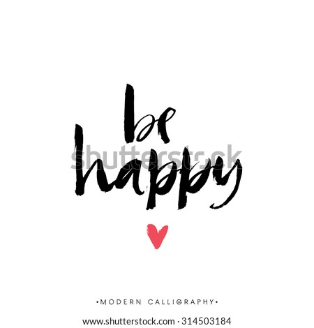 be happy modern brush