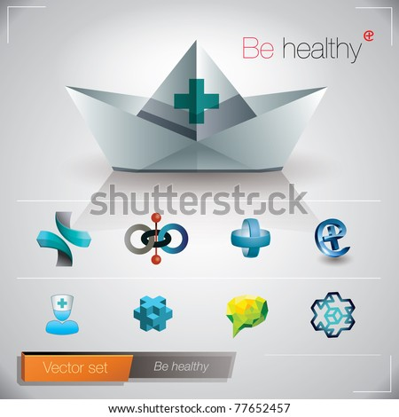 Be healthy. Vector image