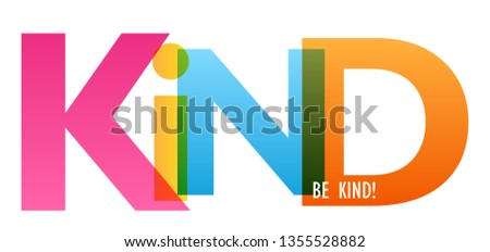 BE KIND! colorful typography banner