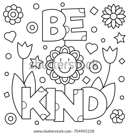 Be Kind Coloring Page At Getdrawings Free Download