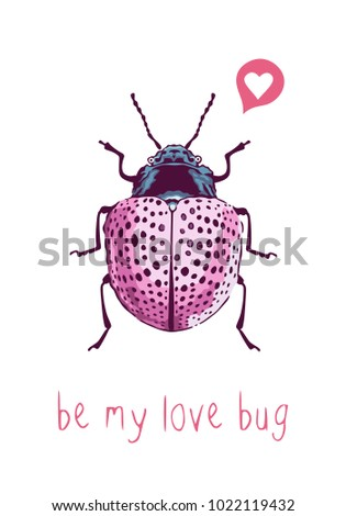be my love bug hand drawn