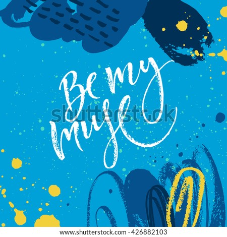 be my muse card hand drawn