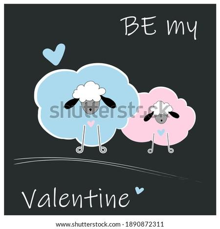 be my valentine card cute