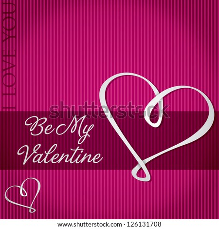 Be My Valentine card in vector format