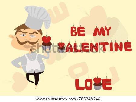 be my valentine geeting card