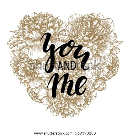 be my valentine hand drawn
