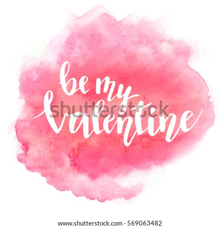 be my valentine lettering on