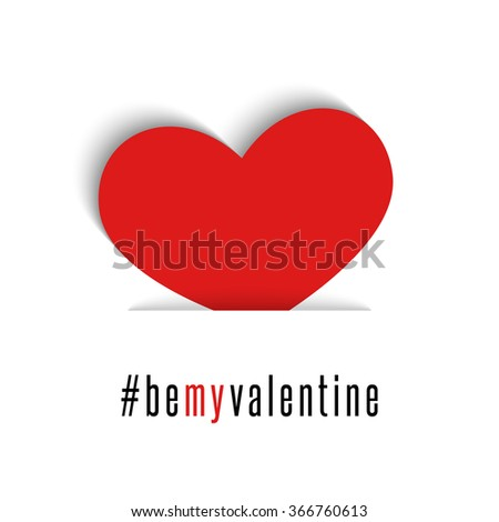 be my valentine red heart love