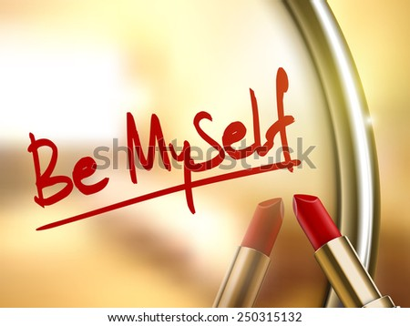 be myself words written by red