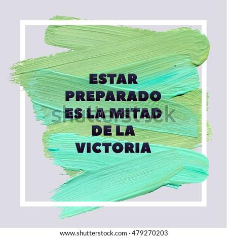 be prepared is half of victory