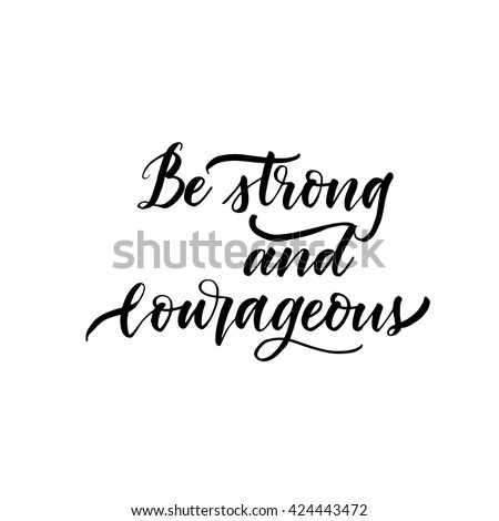be strong and courageous card