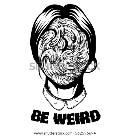 be weird quote typographical