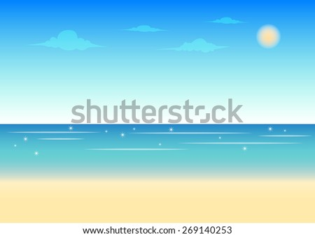 beach and blue sky background