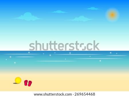 beach and blue sky background