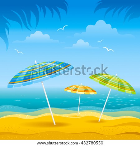 beach background with blue sea