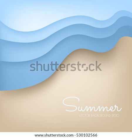 beach background with wave from