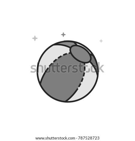 beach ball icon in flat