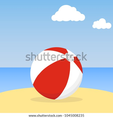 beach ball lying in the sand