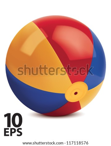Beach ball. Vector illustration